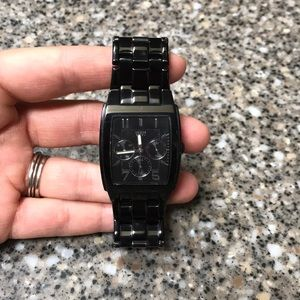 Rare black Steel GUESS watch